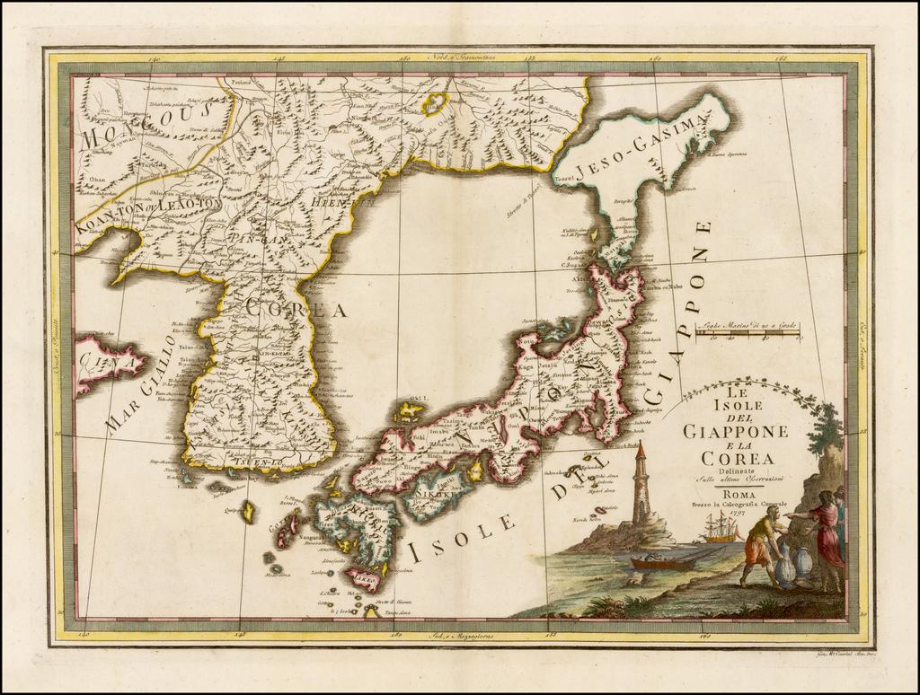 Isole Del Giappone e la Corea . . . 1797 By Giovanni Maria Cassini