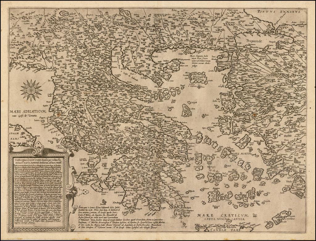 Greece, Turkey and Turkey & Asia Minor Map By Cornelis de Jode
