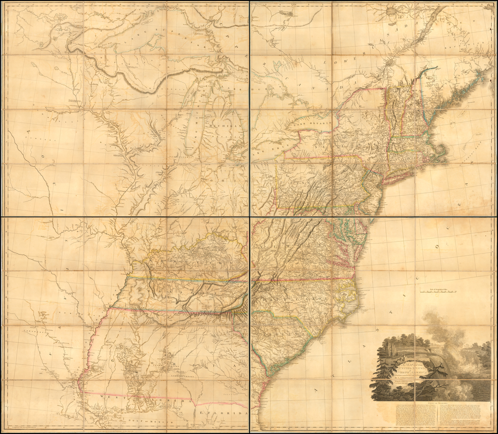 A Map of the United States of North America Drawn from a number of Critical Researches.  By Aaron Arrowsmith, Geographer  … No. 10 Soho Square By Aaron Arrowsmith