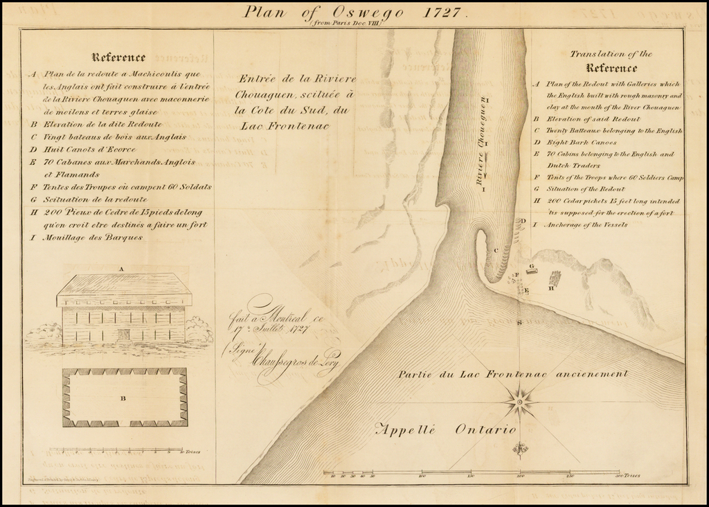 Plan of Oswego 1727 By Parsons Weed