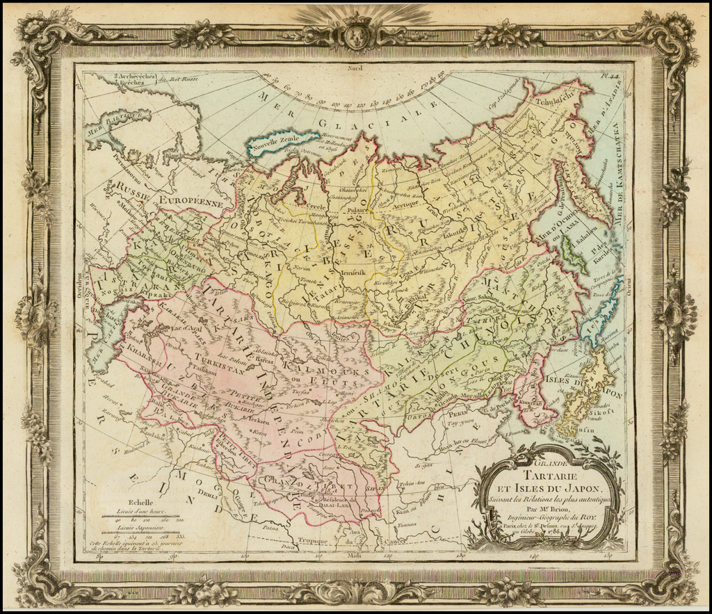 Grande Tartarie Et Isles Du Japon . . . 1766 By Louis Brion de la Tour