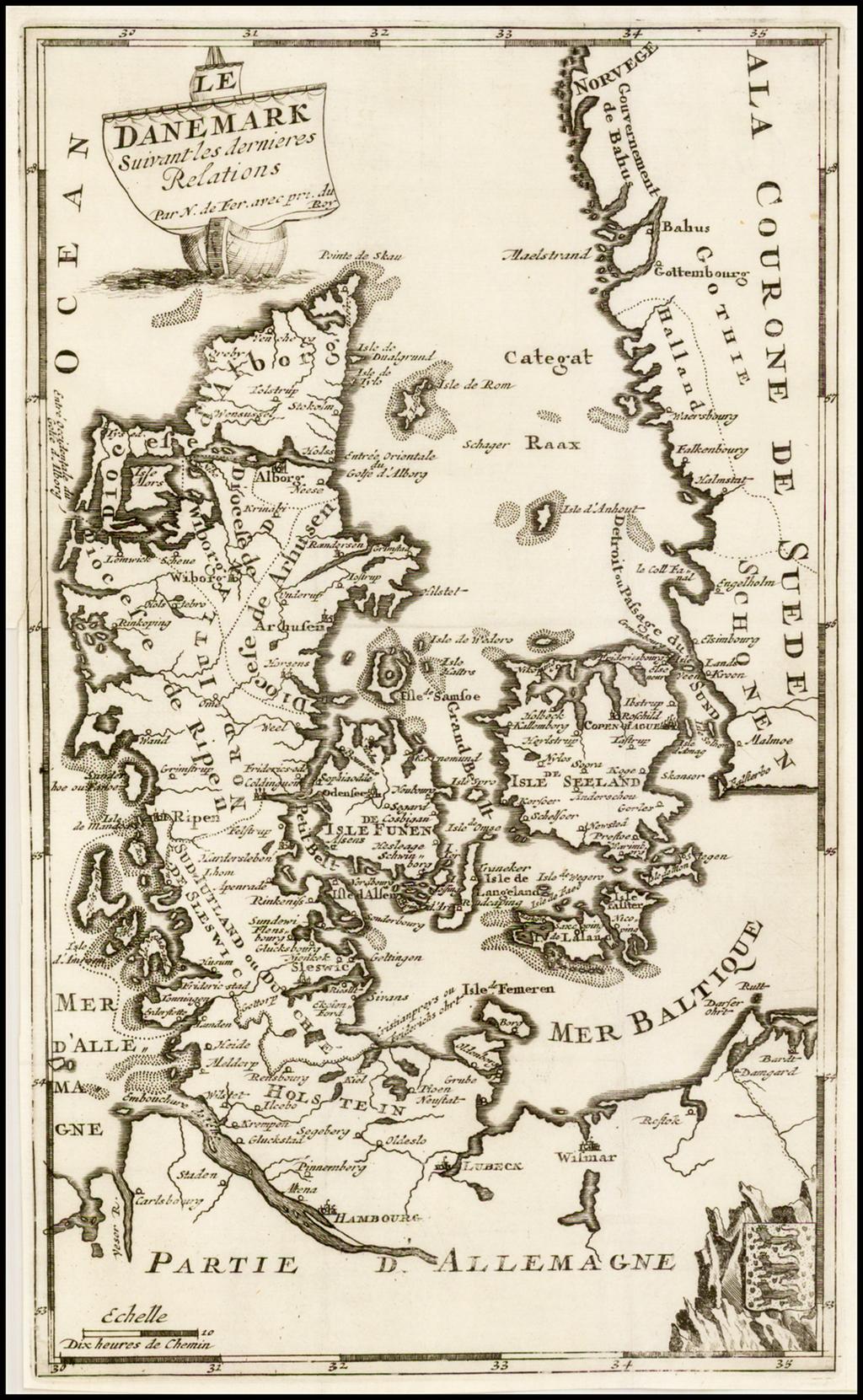 Le Danemark Suivant Dernier Relations By Nicolas de Fer