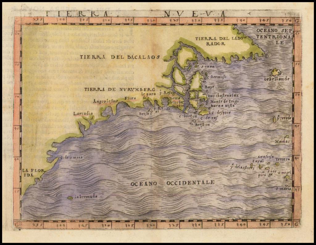 Tierra Nueva [New England] By Giacomo Gastaldi