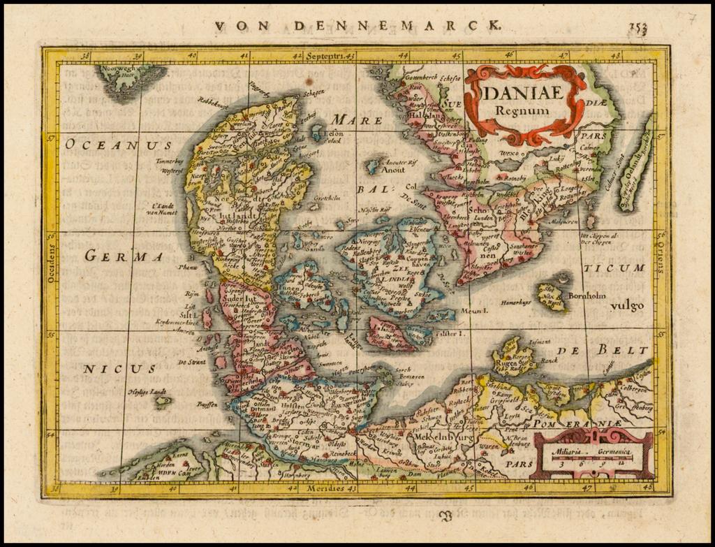 Daniae Regnum By  Gerard Mercator