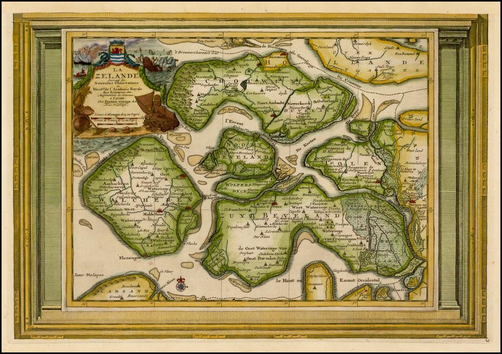 La Zelande Suivant les Nouvelles Observations By Pieter van der Aa