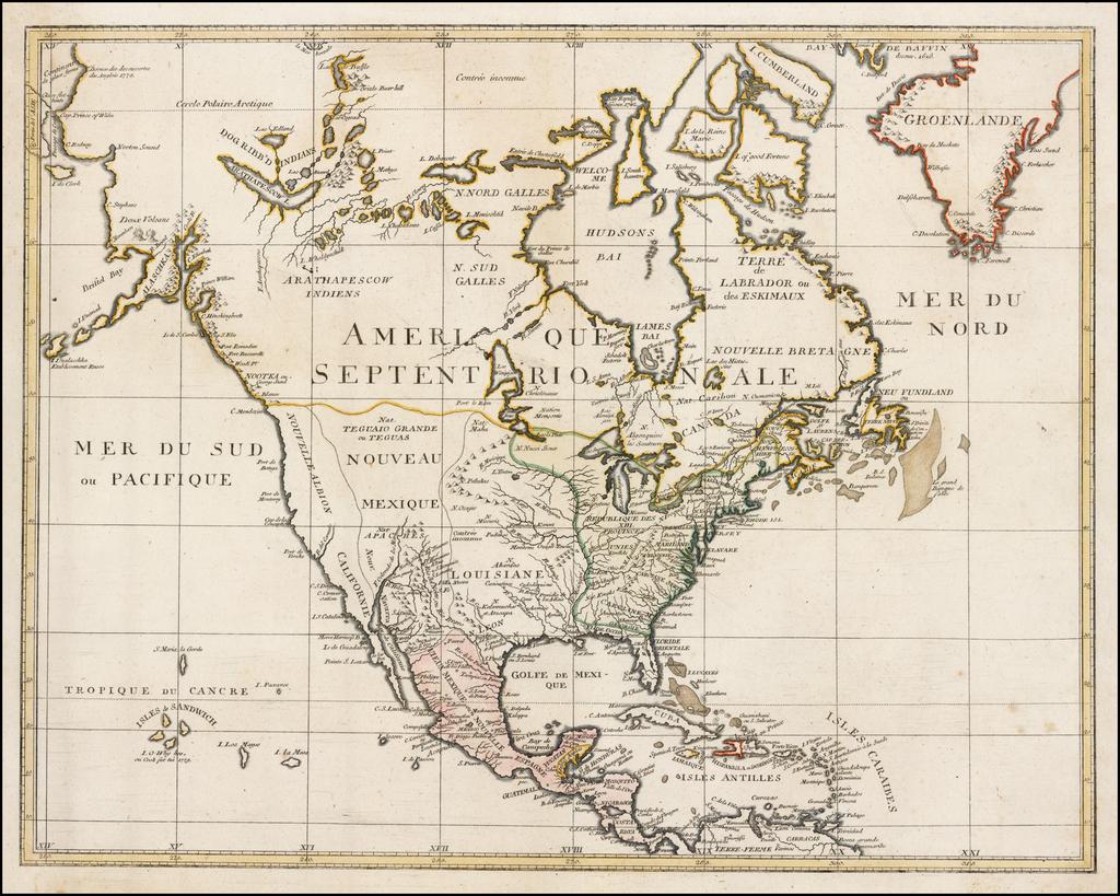 Amerique Septentrionale   By Johann Walch