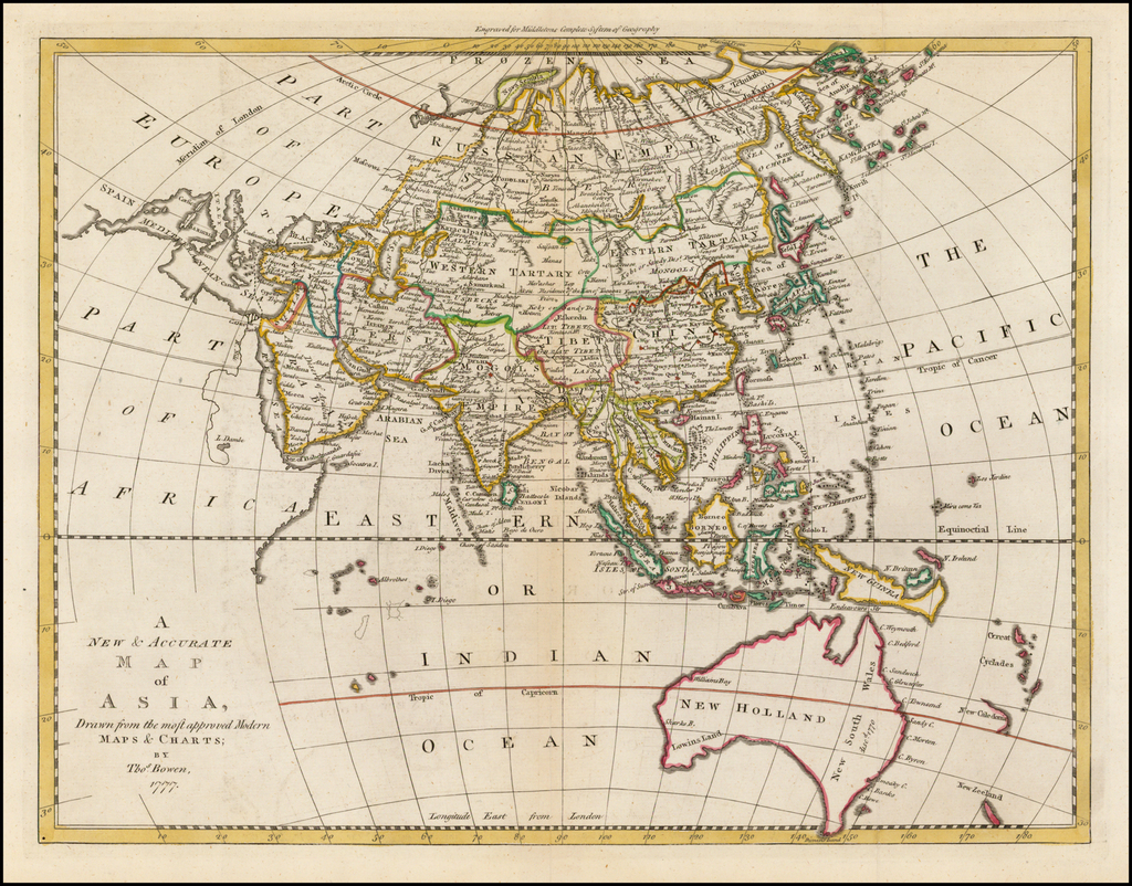 Map Of Modern Asia.A New Accurate Map Of Asia Drawn From The Most Approved Modern