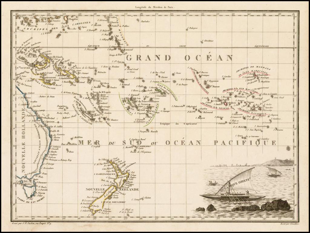 Oceanique  Oriente. By Conrad Malte-Brun