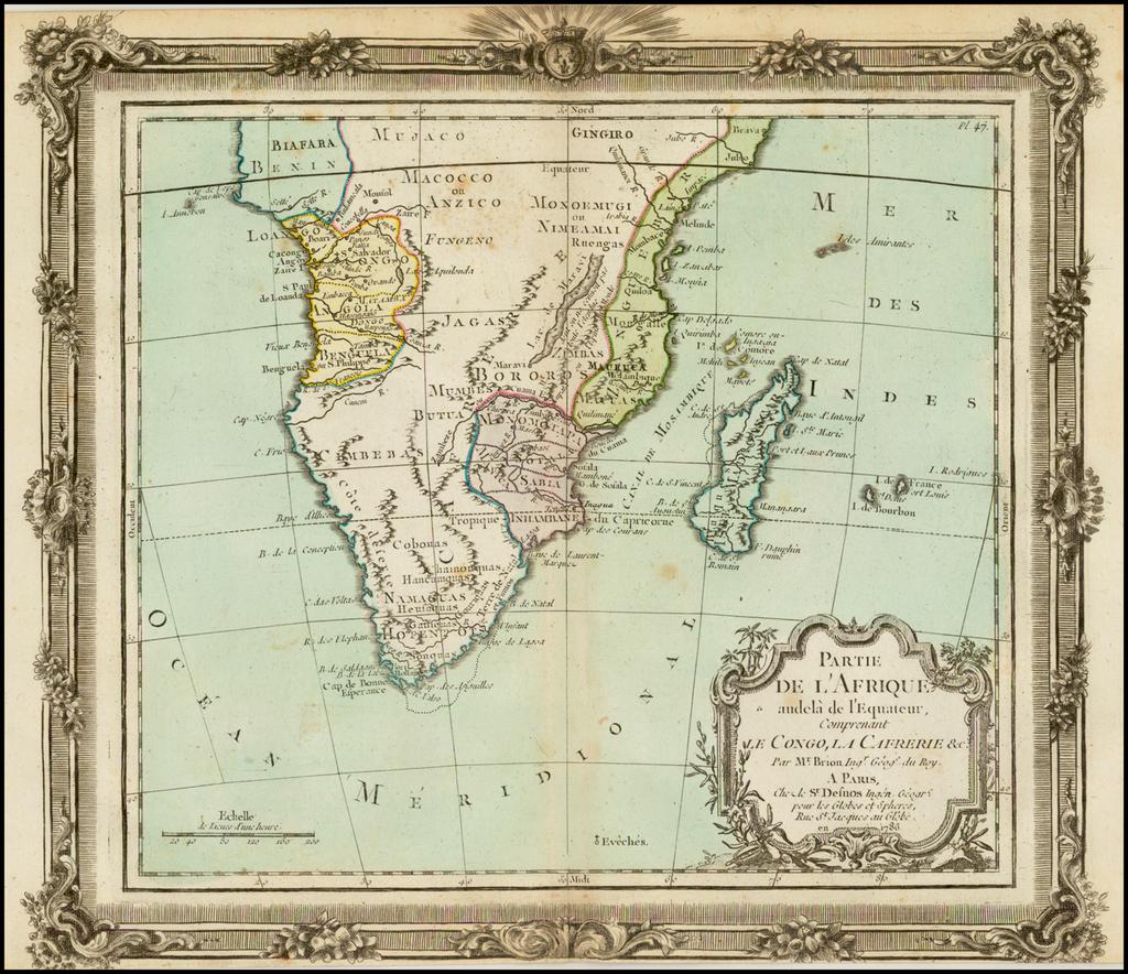 Partie De L'Afrique … Le Congo, La Cafrerie &c….1786 By Louis Brion de la Tour