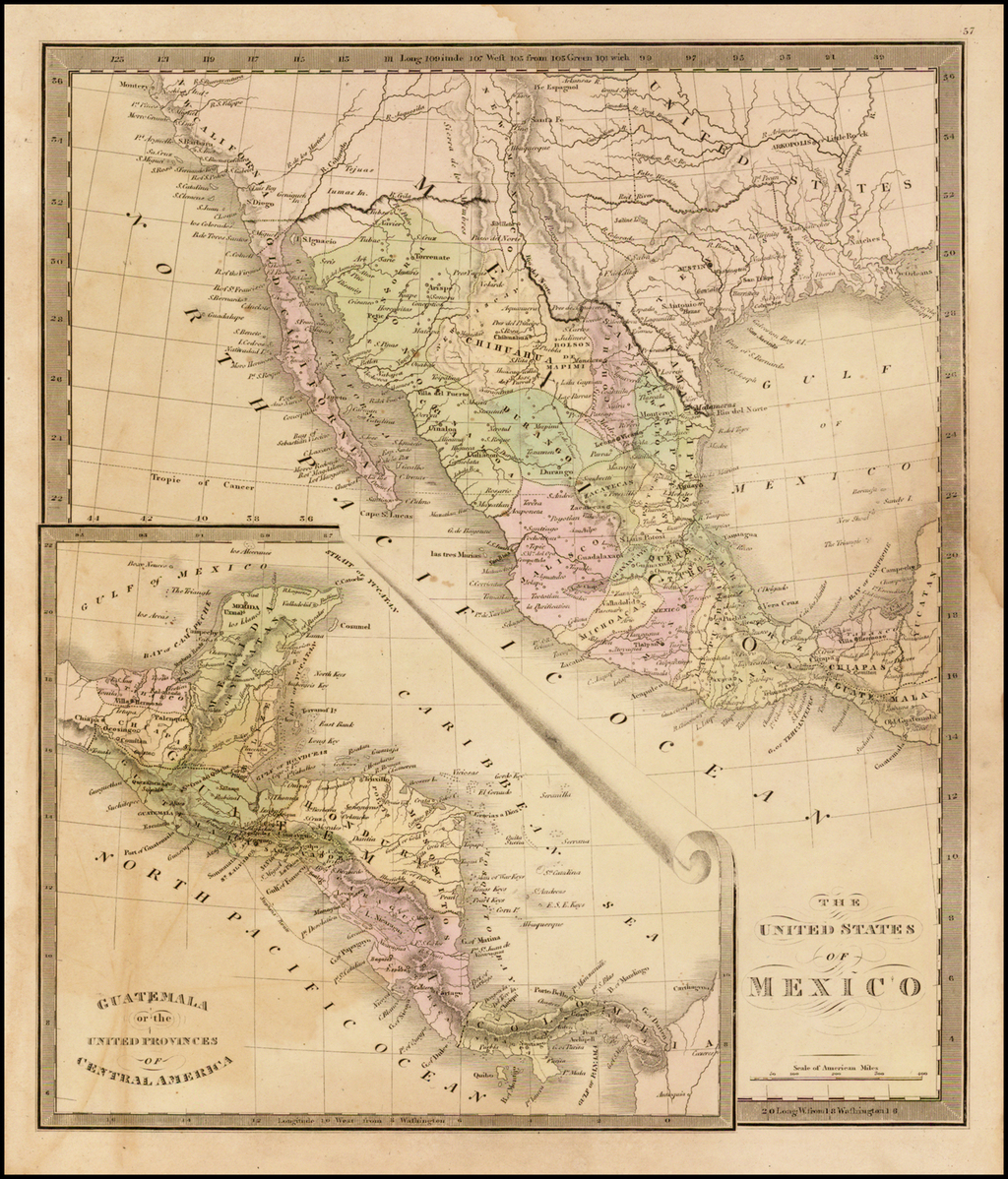 The United States of Mexico . . . [Republic of Texas] By Jeremiah Greenleaf