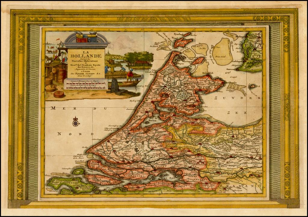 La Hollande Suivant les Nouvelles Observations By Pieter van der Aa