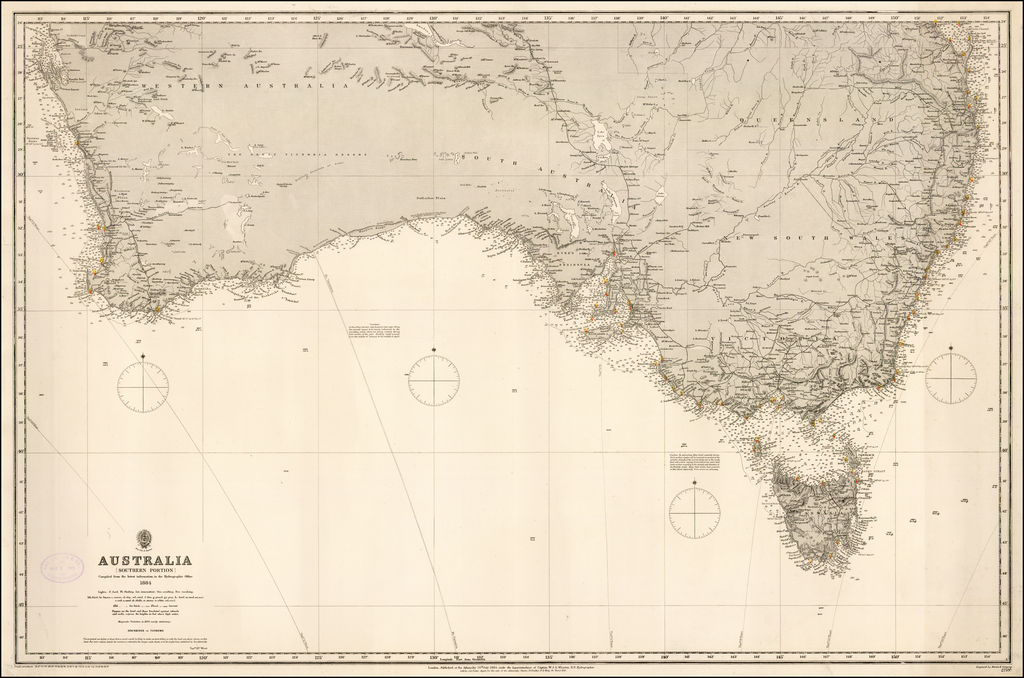 Australia (Southern Portion) Compiled from the latest information in the Hydrographic Office By British Admiralty
