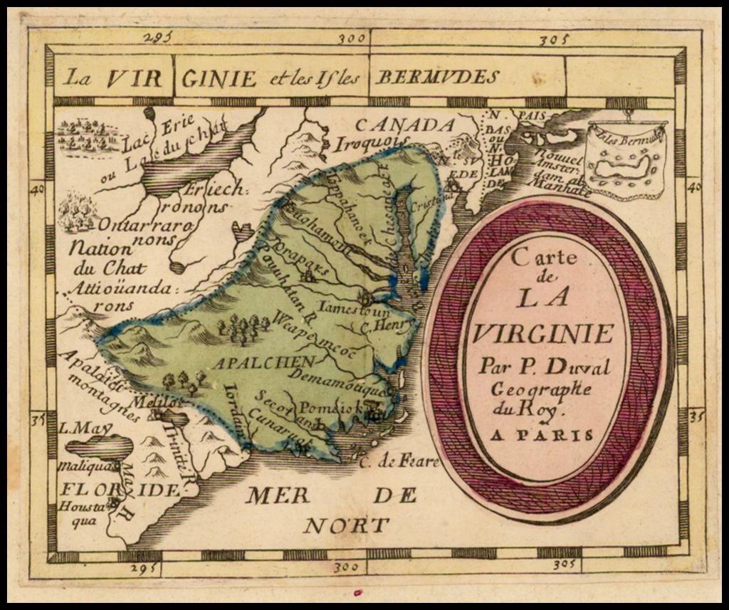 Carte De la Virginie . . . By Pierre Du Val