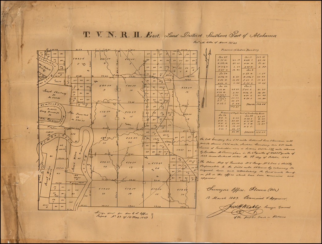 (Tombigbee River Rection)  V. N. R. II East, Land District, Southern Part of Alabama By Anonymous