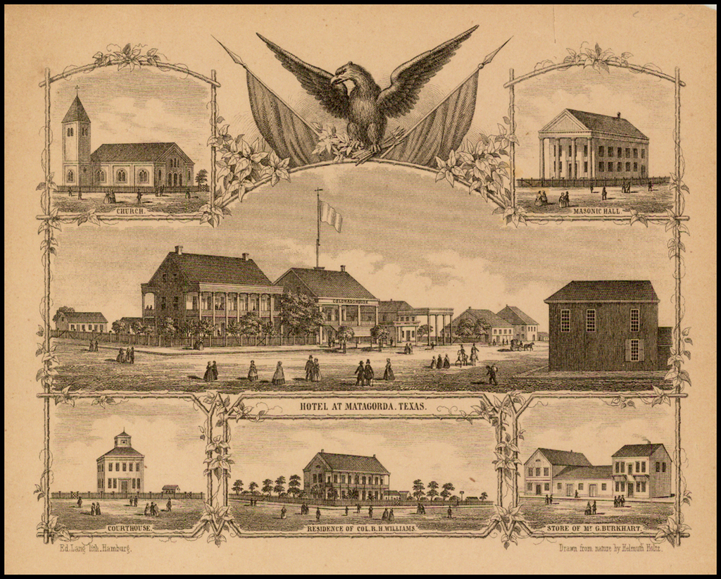 [Matagorda Bay:  Pictorial Letter Sheet] By