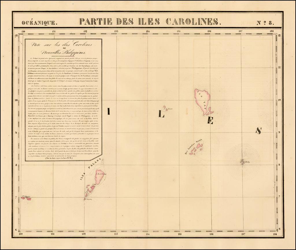 Partie Des Iles Carolines.  Oceanique No. 8 By Philippe Marie Vandermaelen
