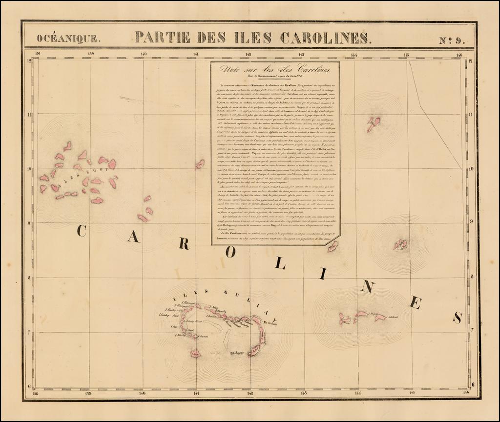 Partie De L'Ile Carolines.  Oceanique No. 9 By Philippe Marie Vandermaelen