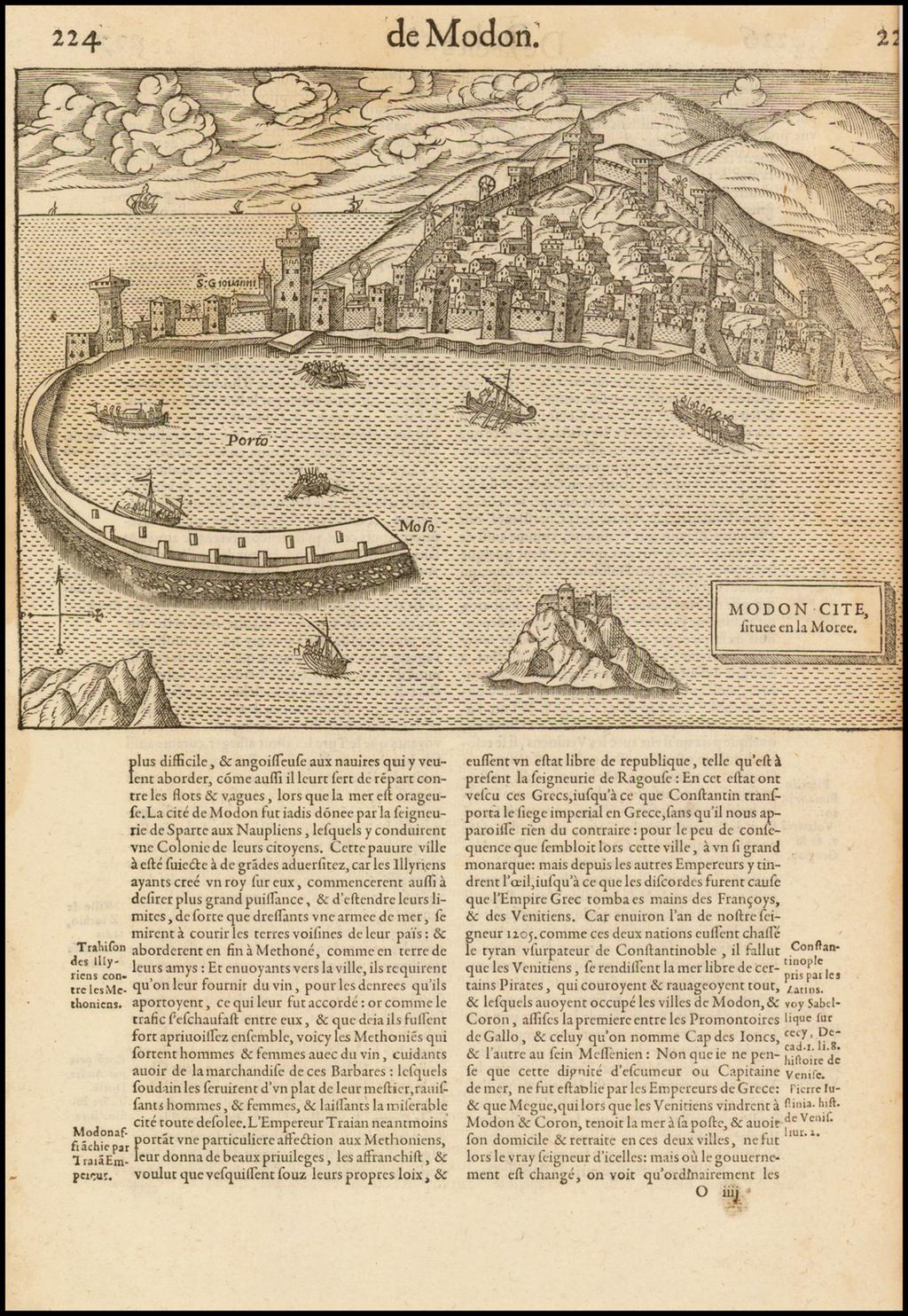 [Methoni] Modon Cite, situee en la Moree By Francois De Belleforest