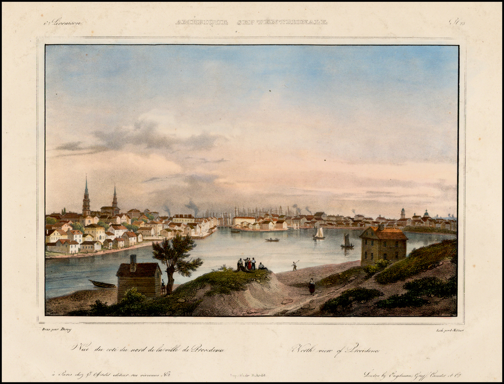 North view of Providence By Jacques Milbert
