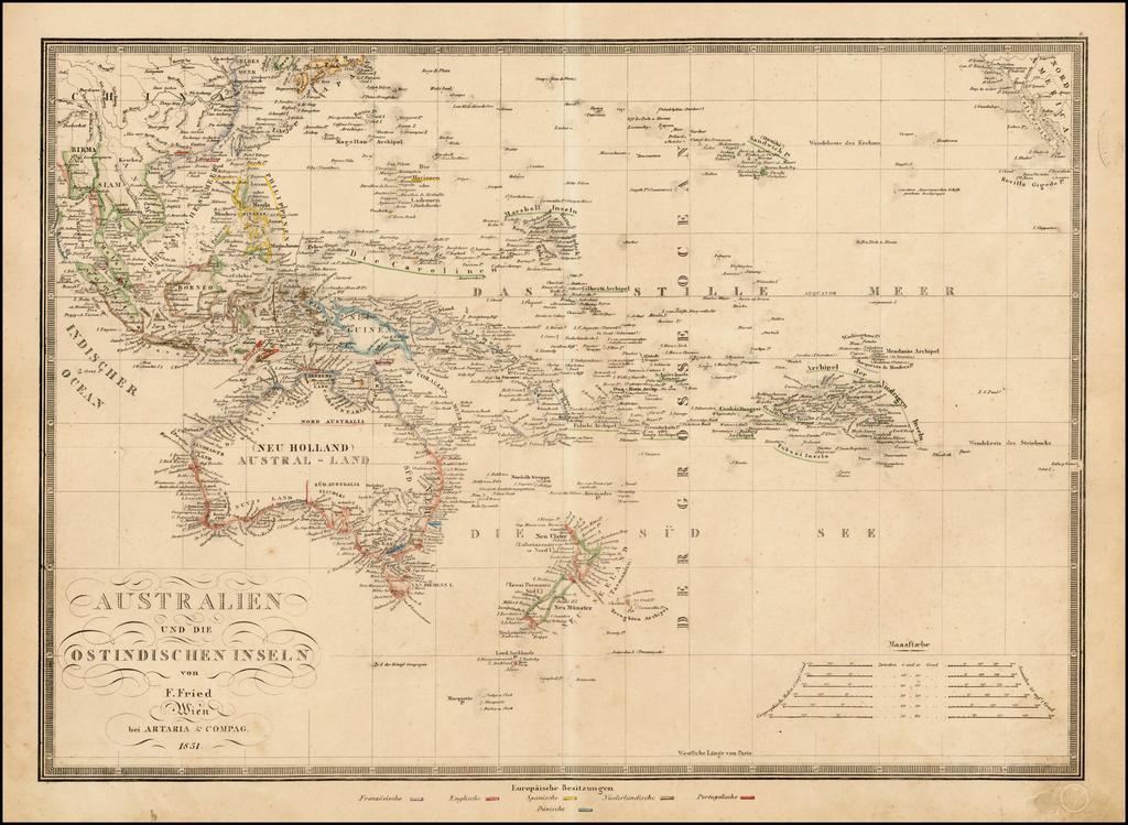Australien und die Ostindischen Inseln von F. Fried . . . 1851 By Artaria & Co.