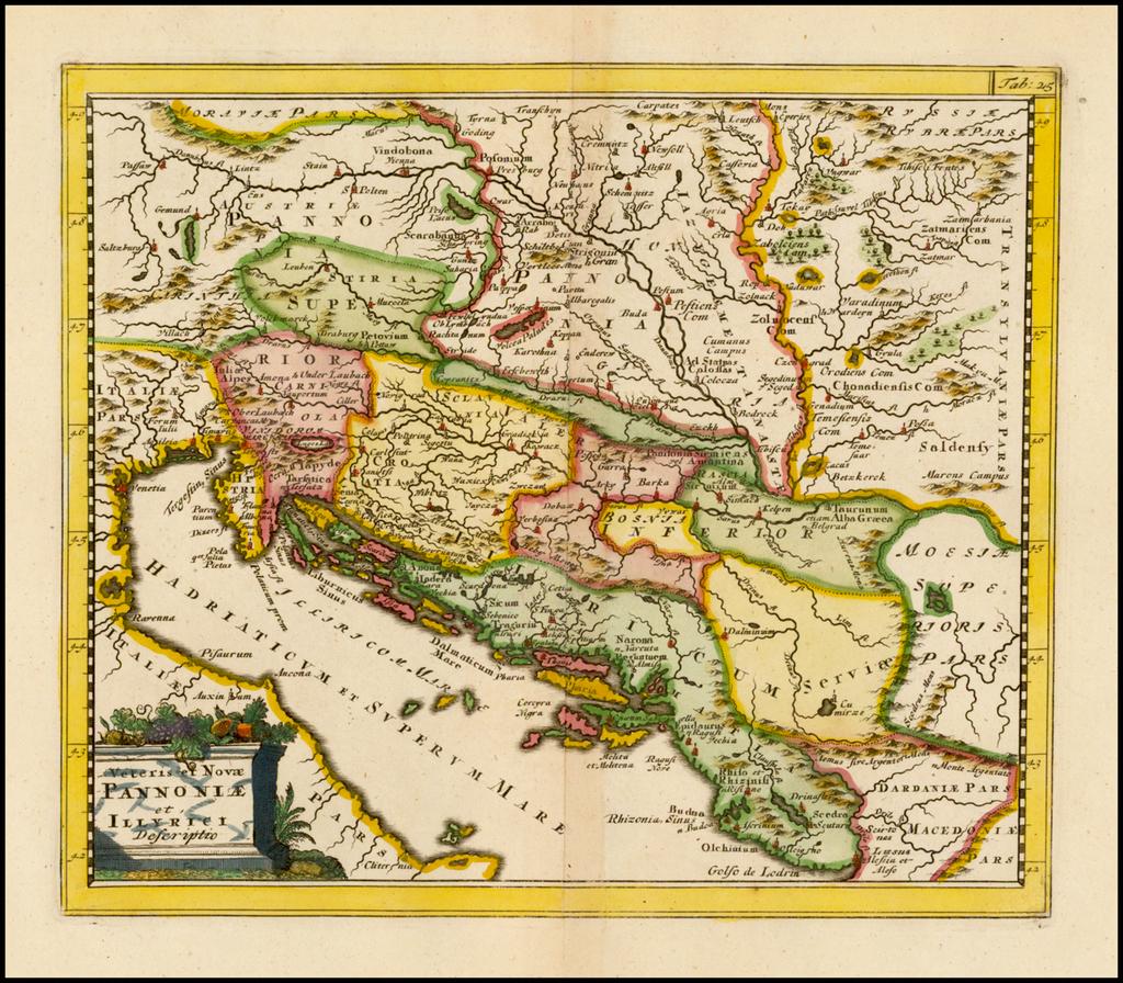 Veteris et Nova Pannoniae et Illyrici Descriptio By Philipp Clüver