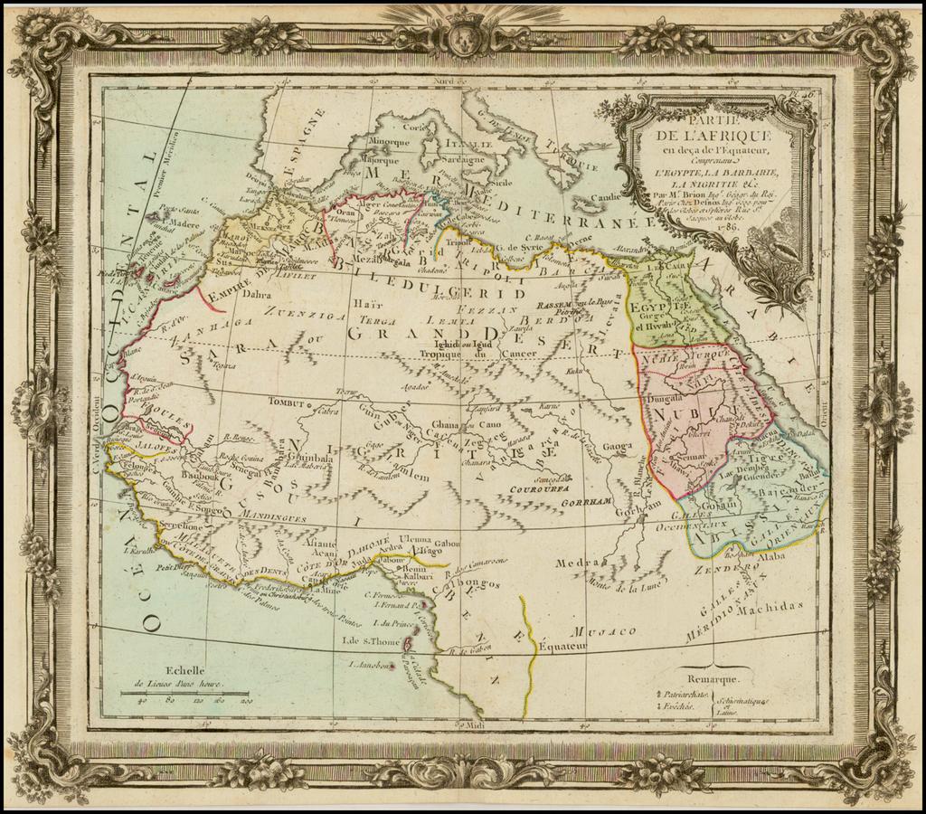 Partie De L'Afrique en deca de L'Equateur … 1766 By Louis Brion de la Tour
