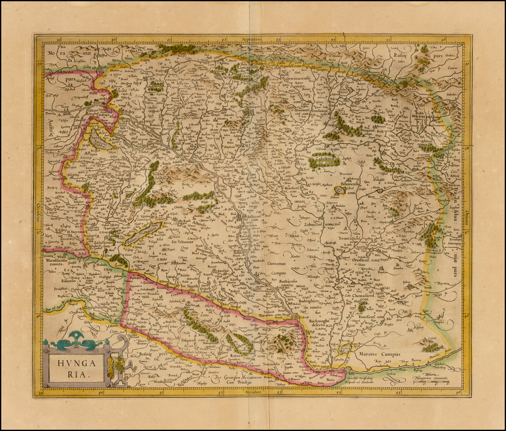 Hungaria By  Gerard Mercator