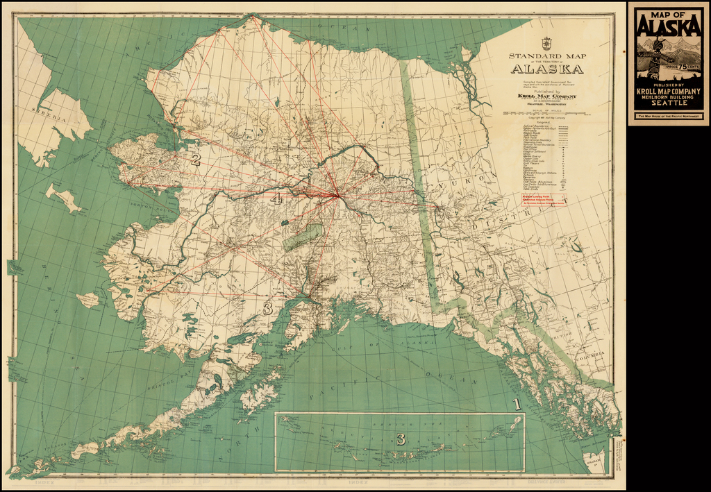 New Alaskan Air Routes!) Standard Map of the Territory of ...