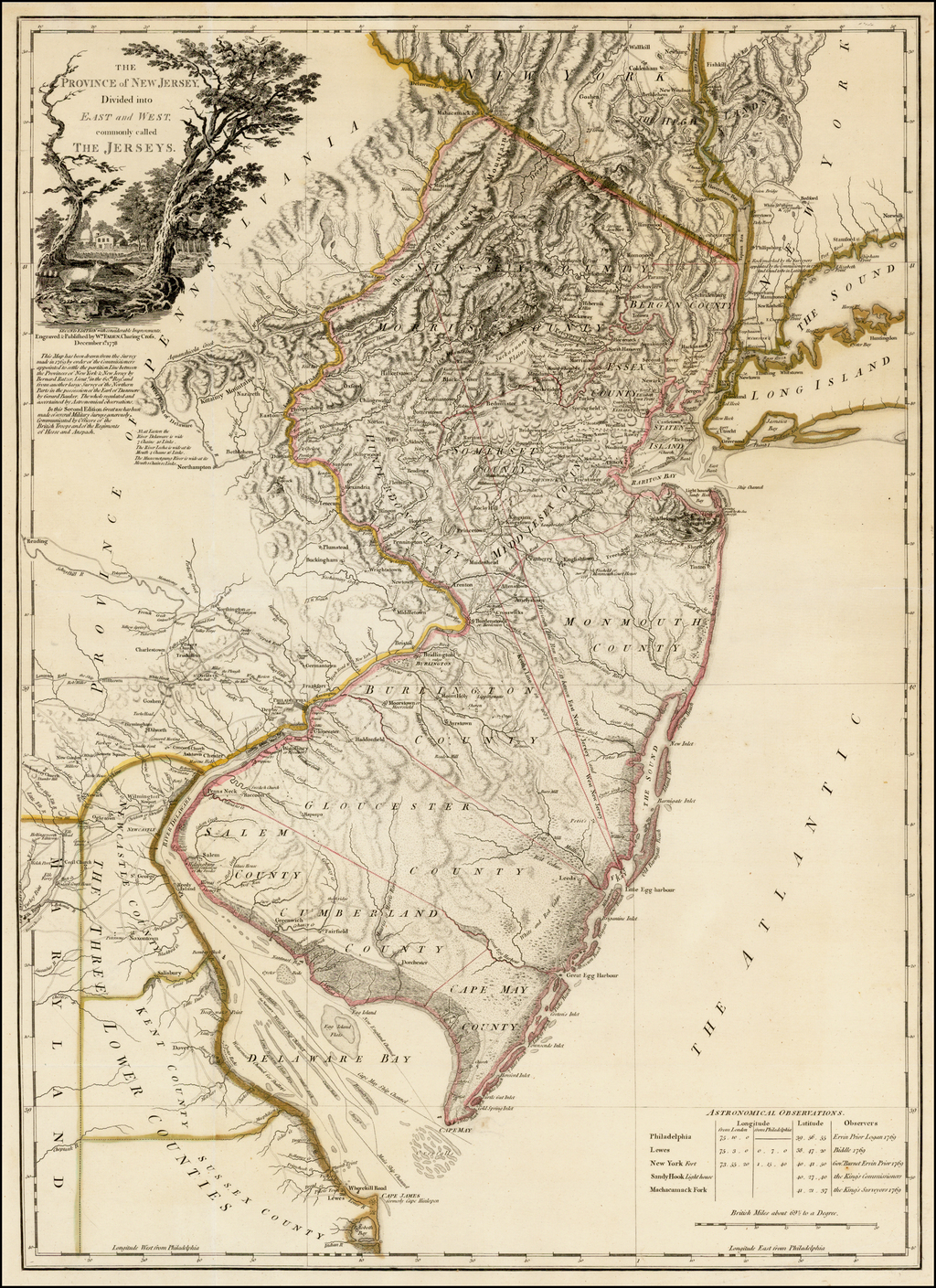 The Province of New Jersey Divided into East and West, commonly called the Jerseys . . . 1778 By William Faden