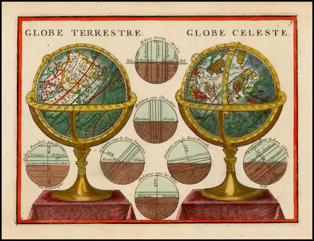 Globe Terrestre Globe Celeste By Jacques Chiquet