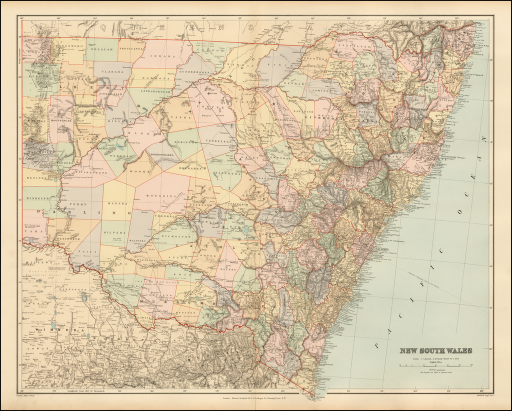 New South Wales  By Edward Stanford