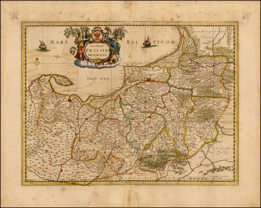 Accurata Prussiae Descriptio By Henricus Hondius