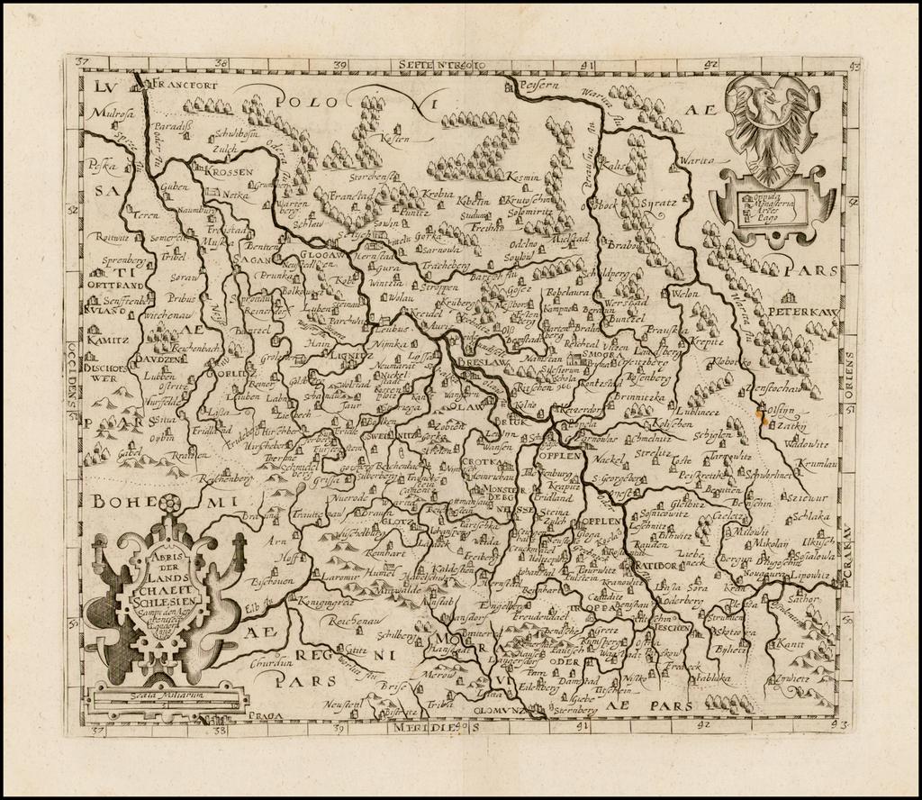 Abris Der Landschaeft Schlesien . . . 1620 By David Custodis
