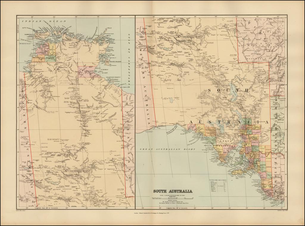 South Australia By Edward Stanford
