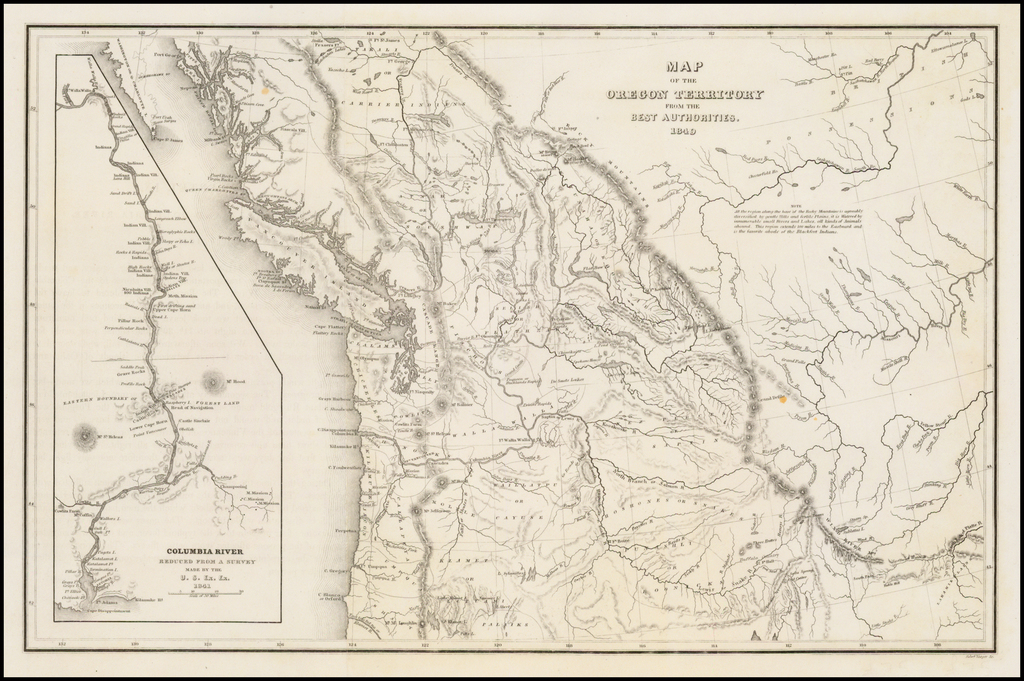 Map of the Oregon Territory From The Best Authorities. 1849 By Charles Wilkes