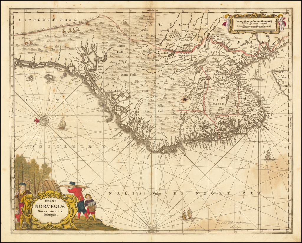 Regni Norvegiae Nova et Accurata descriptio By Moses Pitt