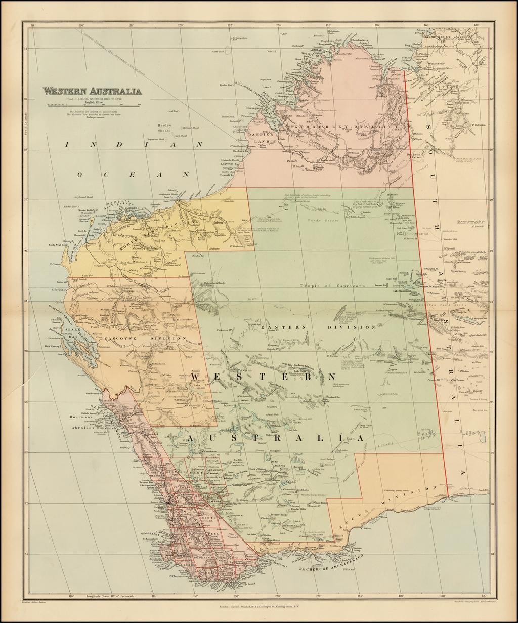 Western Australia By Edward Stanford
