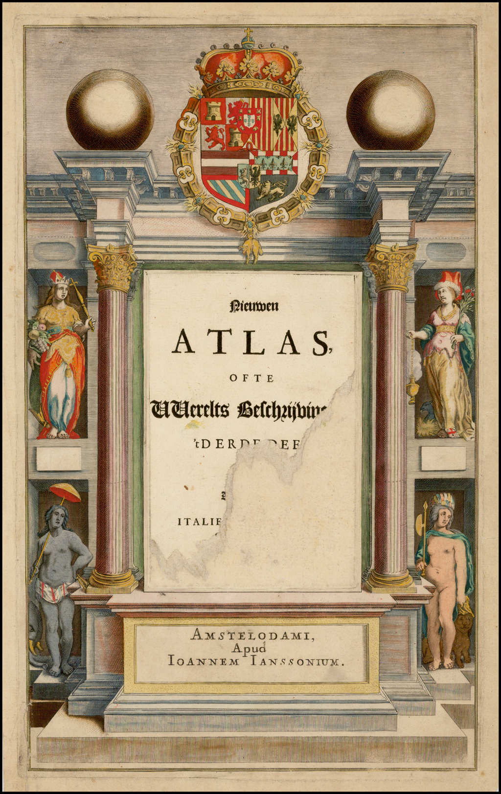 [Title Page] Niewen Atlas . . . (Heightened in Gold!) By Jan Jansson