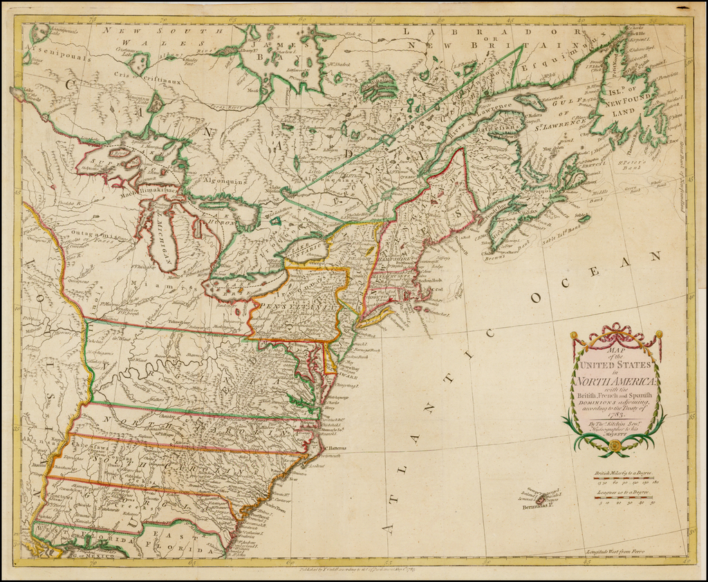 Map of the United States in North America: with the British ...