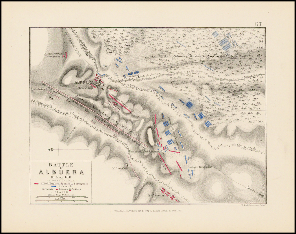 Battle of Albuera 16. May 1811 . . .  By William Blackwood & Sons