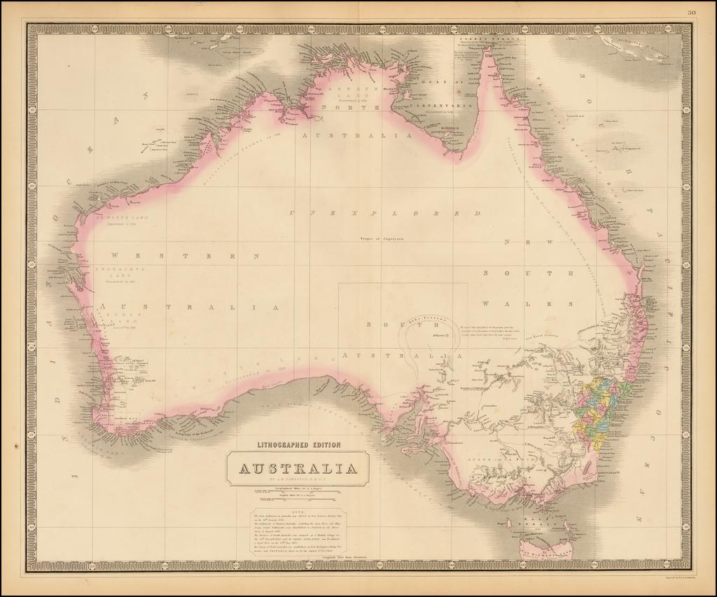 Australia By W. & A.K. Johnston