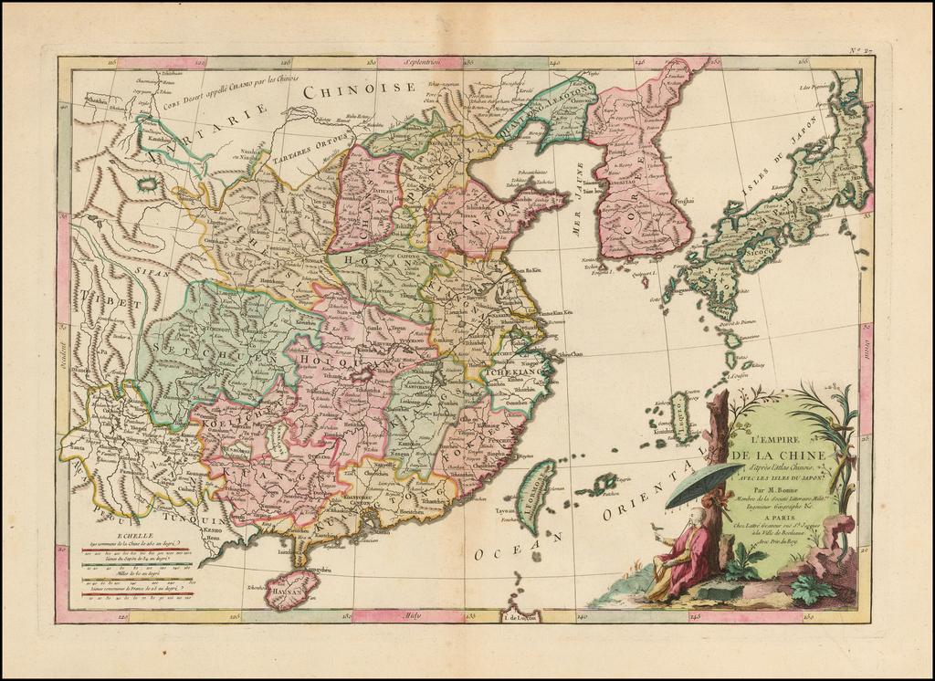L'Empire de la Chine d'après l'Atlas Chinois avec les Isles du Japon . . .  By Jean Lattre