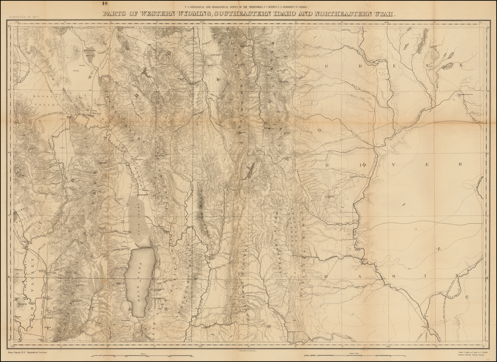 Parts of Western Wyoming, Southeastern Idaho and Northeastern Utah. By F.V. Hayden