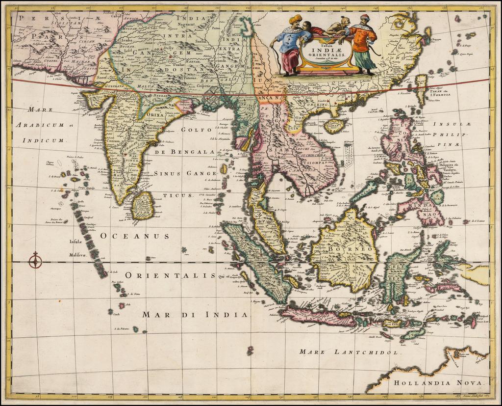 Tabula Indiae Orientalis By Frederick De Wit