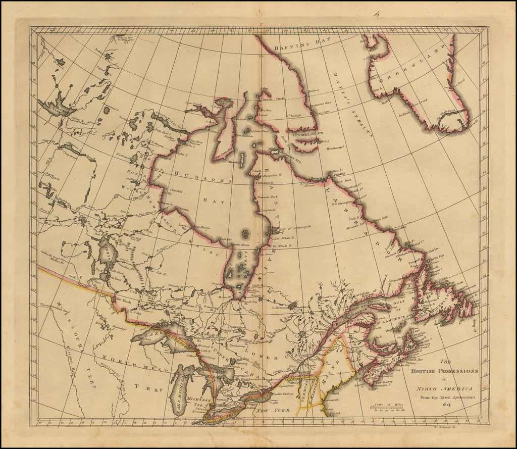 The British Possessions in North America From the Best Authorities.  1814 By Matthew Carey