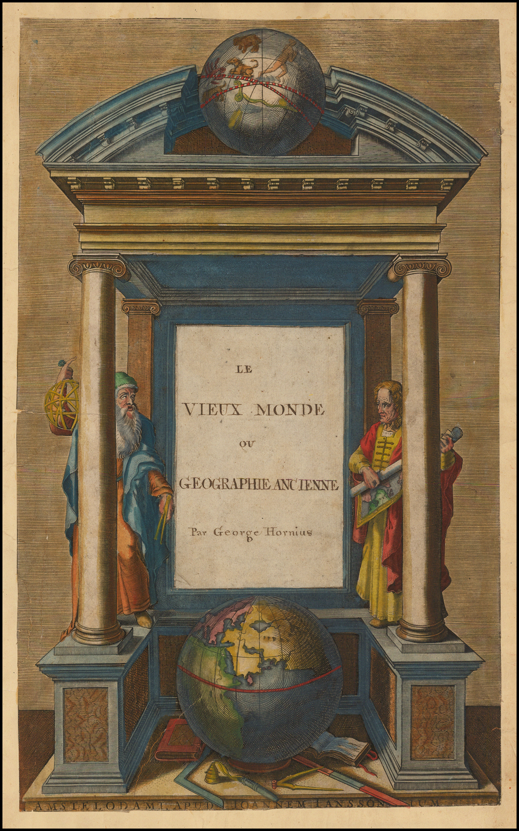 [Title Page]  Le View Monde ou Geographie Ancienne Par George Hornius By Jan Jansson