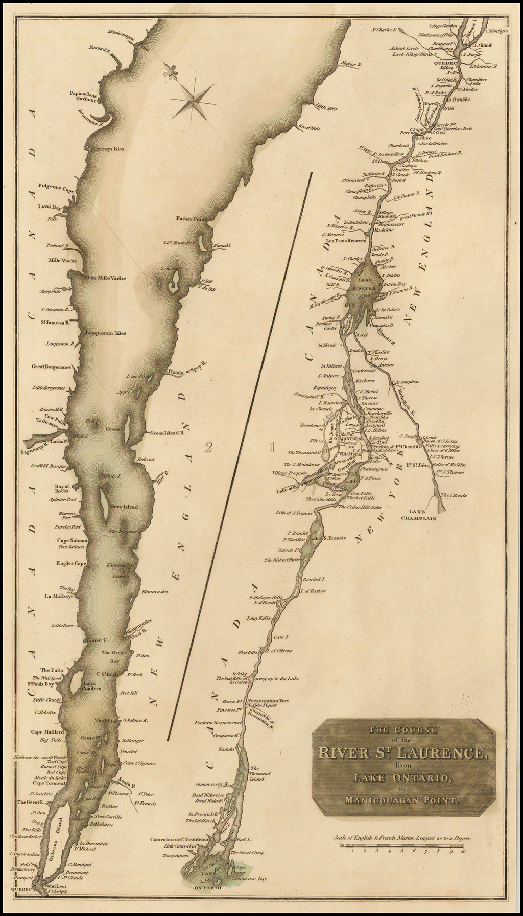 The Course of the River St. Laurence from Lake Ontario to Manicouagan Point By John Thomson