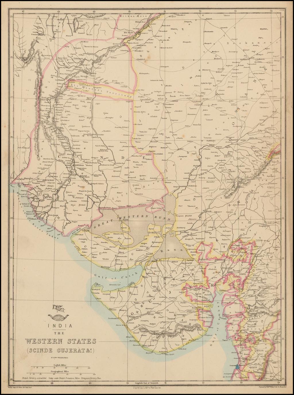 India -- Western States (Schinde Gujerat &c.) By Edward Weller