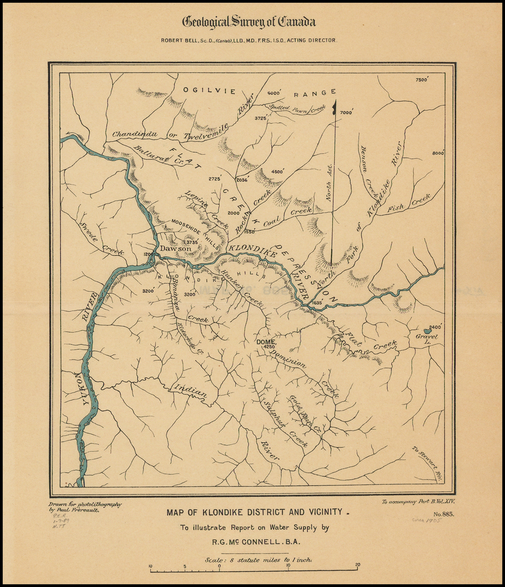 Map of Klondike District and Vicinity. . . .  By Geological Survey of Canada