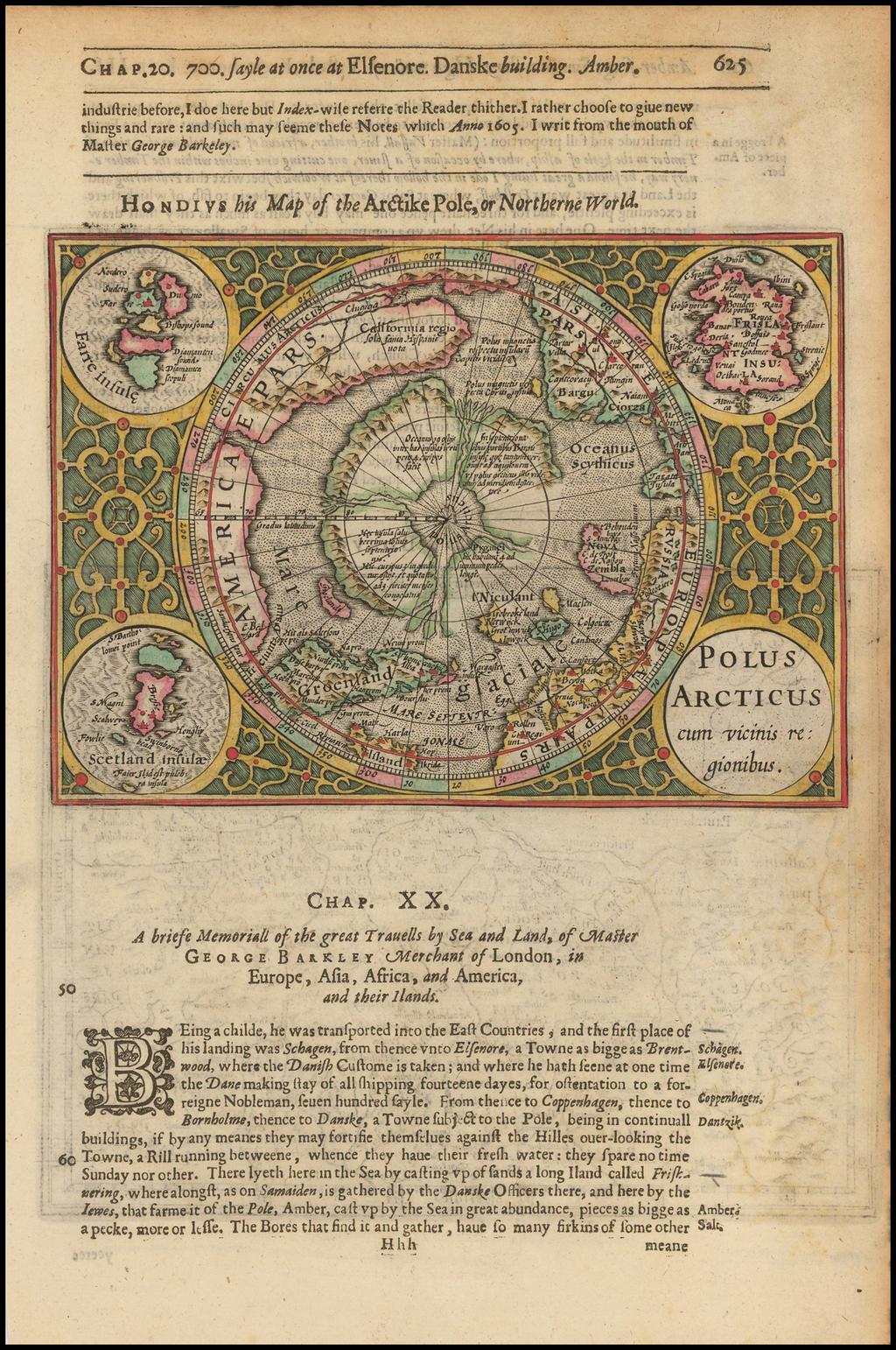 Polus Arcticus cum vicinis regionibus By Henricus Hondius / Samuel Purchas
